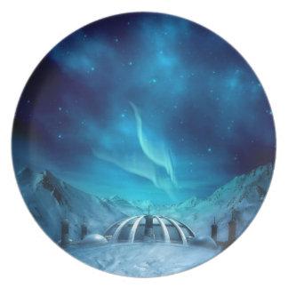 Aurora Borealis Party Plates