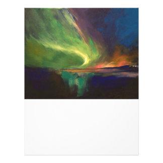 Aurora Borealis Plantillas De Membrete