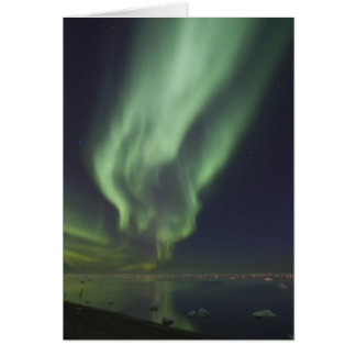 Aurora Borealis reflected in Arctic Ocean Card