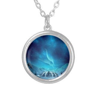 Aurora Borealis Silver Plated Necklace