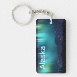 Aurora Borealis Single-Sided Rectangular Acrylic Keychain