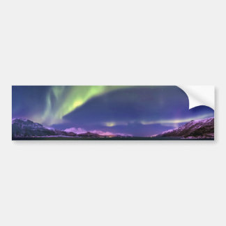 Aurora Borealis sobre Lyngenfjorden Noruega Pegatina Para Auto