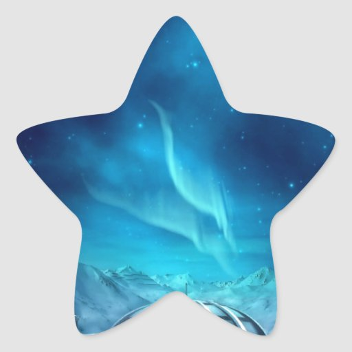 Aurora Borealis Star Sticker