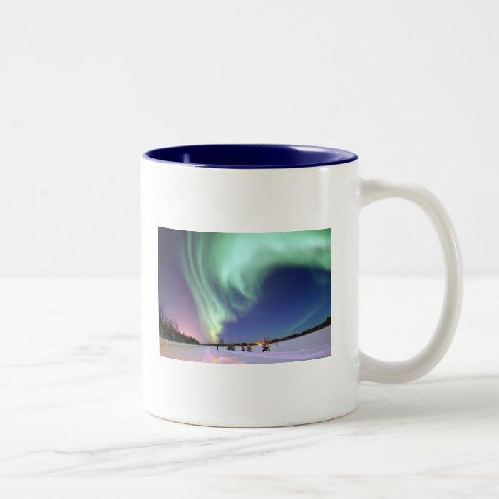 Aurora Borealis Two-Tone Coffee Mug