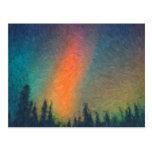 Aurora Borealis Van Gogh Tarjeta Postal