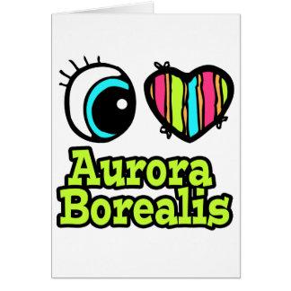 Aurora brillante Borealis del amor del corazón I Tarjeta De Felicitación