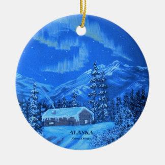 Aurora Cabin Ceramic Ornament