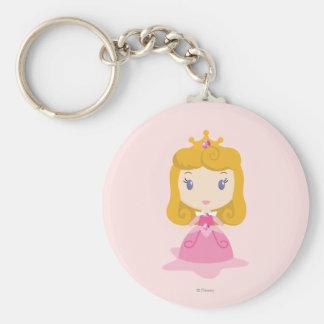 Aurora Cartoon Basic Round Button Keychain