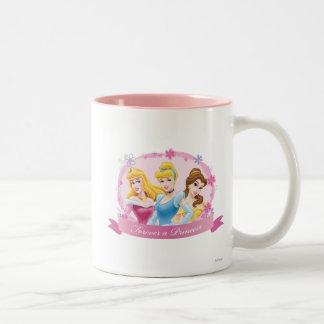Aurora, Cenicienta y belleza de la princesa el | Taza De Café De Dos Colores