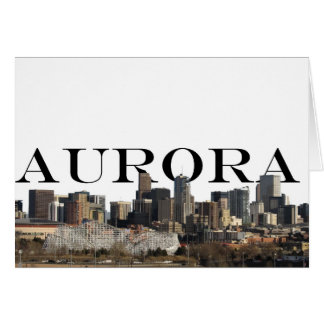Aurora CO Skyline with Aurora in the Sky Card Greeting Card