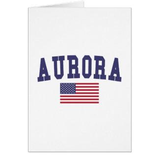 Aurora CO US Flag Card