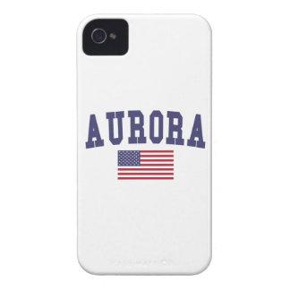 Aurora CO US Flag iPhone 4 Covers
