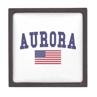 Aurora CO US Flag Jewelry Box