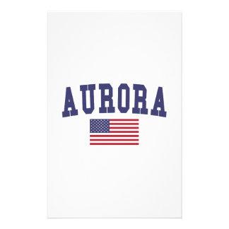 Aurora CO US Flag Stationery