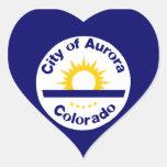 Aurora, Colorado Heart Sticker