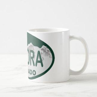 Aurora Colorado license oval Mug