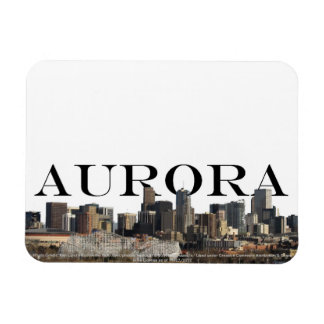 Aurora Colorado Skyline with Aurora the Sky Vinyl Magnets