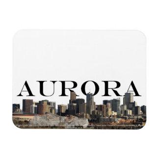 Aurora Colorado Skyline with Aurora the Sky Rectangular Photo Magnet