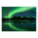 Aurora de Islandia Tarjeton