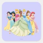 Aurora de la princesa el | de Disney, Tiana, Pegatina Cuadrada