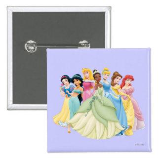 Aurora de la princesa el   de Disney, Tiana, Pin Cuadrado