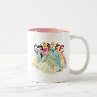 Aurora de la princesa el | de Disney, Tiana, Taza De Café De Dos Colores