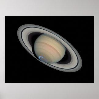 Aurora de Saturn - poster Póster