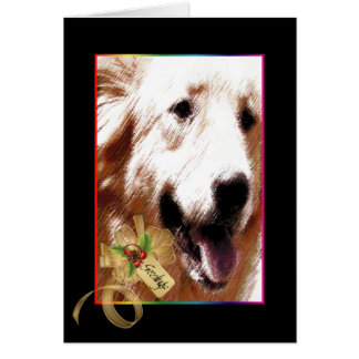 Aurora, Dog of Christmas Past Card