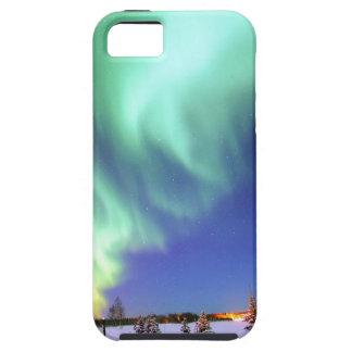 Aurora en el lago bear funda para iPhone SE/5/5s