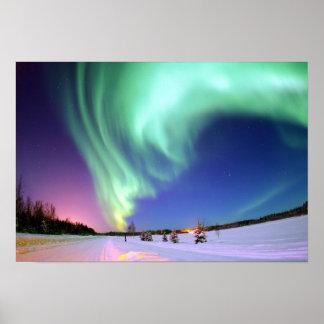 Aurora en el lago bear impresiones