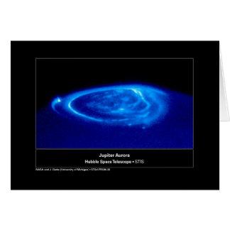 Aurora en el telescopio de Júpiter Hubble Tarjeta De Felicitación