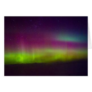 Aurora en la colina del pen¢asco tarjeta pequeña