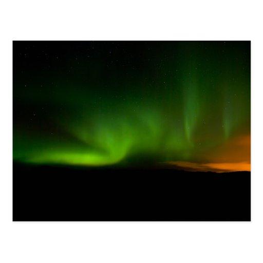 Aurora en la península #2 de Reykjanes Postal