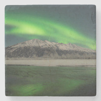 Aurora esmeralda posavasos de piedra