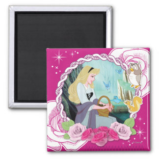 Aurora - Gentle and Graceful 2 Inch Square Magnet