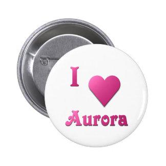 Aurora -- Hot Pink Button