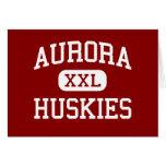 Aurora - Huskies - High School - Aurora Nebraska Greeting Card