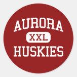 Aurora - Huskies - High School - Aurora Nebraska Round Sticker