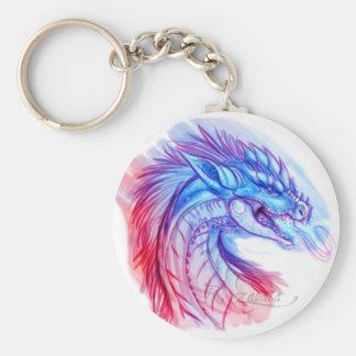 Aurora Ice dragon Basic Round Button Keychain