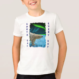 Aurora, Ice & Polar Bear Earth Day Every Day Shirt