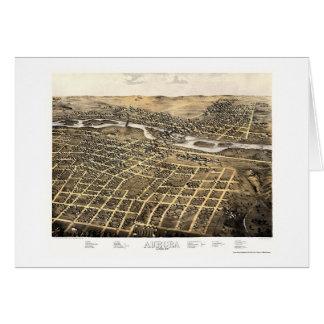 Aurora, IL Panoramic Map - 1867 Card