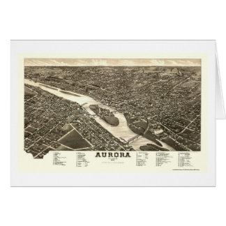 Aurora, IL Panoramic Map - 1882 Card