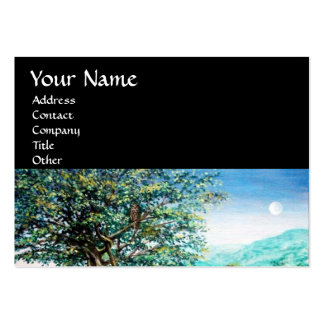AURORA MAGIC TREE green blue black Business Card Template