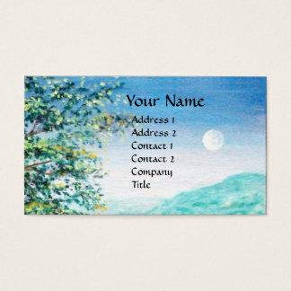 AURORA / MAGIC TREE, green, blue Business Card