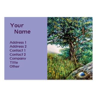 AURORA MAGIC TREE green blue Business Card