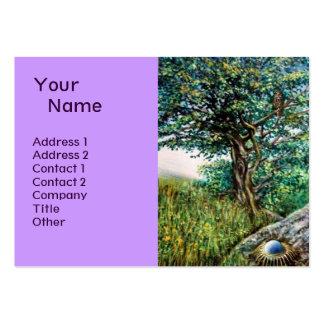 AURORA MAGIC TREE green blue Business Card Template
