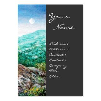 AURORA MAGIC TREE green blue grey Business Card