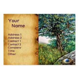 AURORA MAGIC TREE green blue parchment Business Card Templates