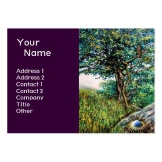 AURORA MAGIC TREE green blue purple Business Card