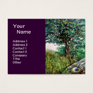 AURORA / MAGIC TREE, green, blue ,purple Business Card
